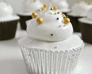 Cupcakes mit Sekt und Zitrone für Silvester