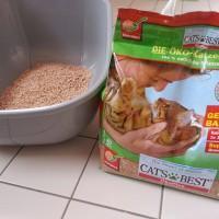 Katzenstreu Test: Cat's Best Öko Plus