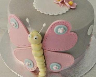 Torte mit Schmetterling