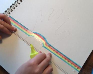 Faszinierende Kindheitserinnerung: Hand malen – für einmal mit 3D-Effekt