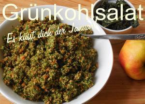 Grünkohl-Salat: Es küsst dich der Januar!