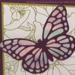 Grußkarte mit Thinlits Form Schmetterling