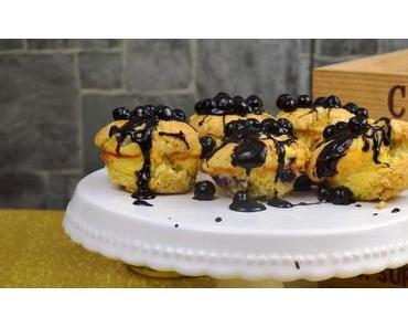 Heidelbeer Streusel Muffins mit Schoko-Heidelbeer-Aperol-Guss