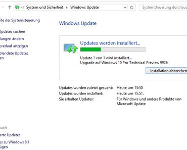 Windows 10 – als Update jetzt schon installieren