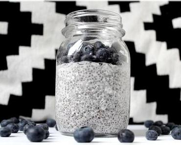 Coconut Berry Chia Pudding ~ healthy recipe