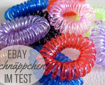 Ebay-Schnäppchen im Test: Spiral-Haargummis