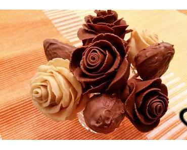 {DIY} Erdbeer-Schokoladen-Rosen zum Valentinstag