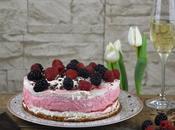 Erdbeer Prosecco Torte frischem Joghurt