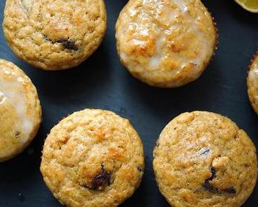 Zitronen-Vanille Buttermilch-Muffins mit dunklen Schokoladestücken