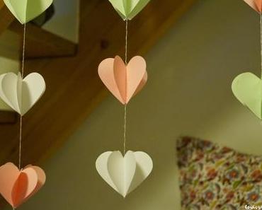 3D Herz-Girlande
