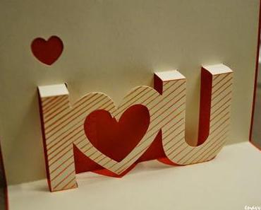 I Love you - Valentinstags Karte