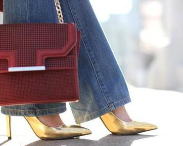 Flared jeans & Marsala