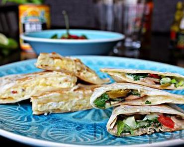 Vegetarische Weltreise: Mexiko , Quesadillas mit Bohnenmu...