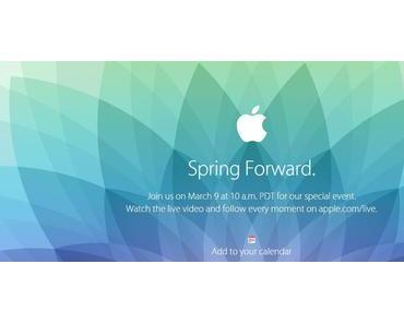Apple lädt zur Produktpräsentation Spring Forward ein