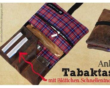 Tabaktasche mit Blättchen-Schnellentnahme-Fach: Anleitung