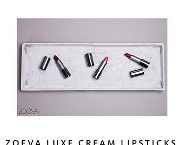 NEW IN: ZOEVA Luxe Cream Lipsticks – 3 neue Farben.