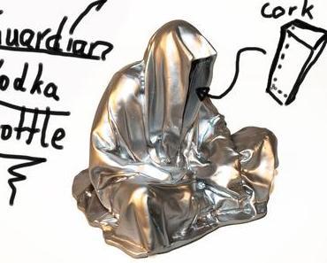 First sketch of the Guardian Vodka bottle by Manfred Kielnhofer contemporary art arts arte glass design sculpture form statue