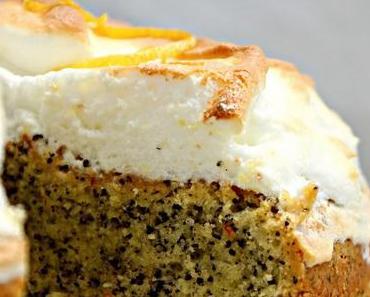 Ich back´s mir Osterrezepte eierlikör- Mohn Kuchen mit Zitronenbaiserhaube