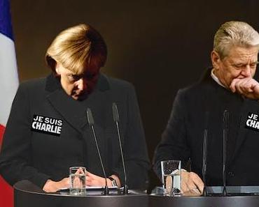 Die bitteren Tränen der Angela Merkel und des Joachim Gauck wg. Demokratie, Meinungsfreiheit, toten Satirikern und Charlie Hebdo