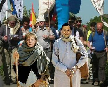 Sonntag ist Show-Pilgern mit Angela. Merkel pilgert zu den Gebeinen des Heiligen Jakob.
