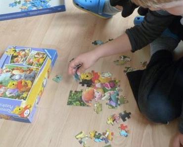 Puzzlen und spielen wie die Eiskönigin
