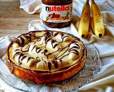 Feines Sonntagssüß: Bananen-Nutella-Käsekuchen