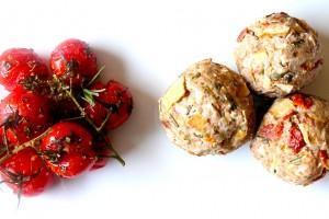 Italian Style Knödel mit geschmorten Tomaten