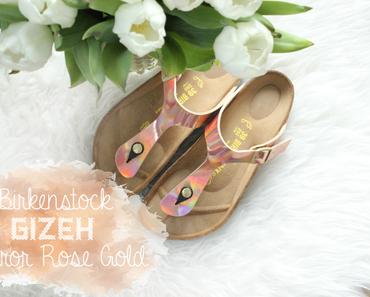 Birkenstock Gizeh Mirror Rose Gold