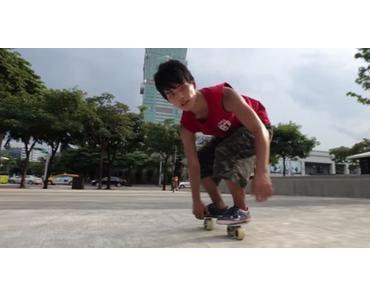 Freeline Skating in den Straßen von Taipei