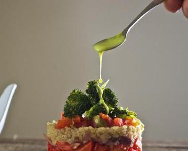 Quinoa-Gemüse-Türmchen