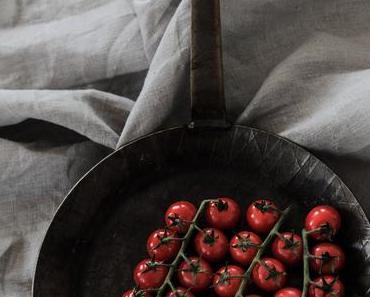 geschmorte Tomaten + Weißweinessig