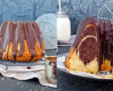 Old School Marmor Gugelhupf mit Schokolade und Orange