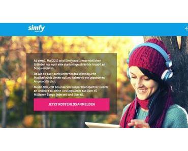 Der Streaming-Dienst Simfy ist pleite