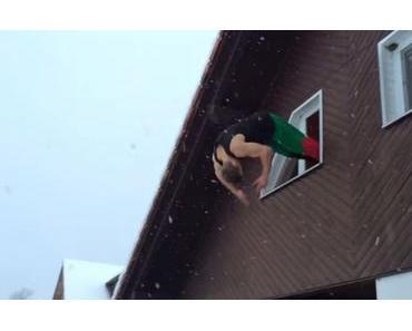 Bis einer heult. Freerunner Dominik Sky zeigt seine derbsten Fenstersprünge
