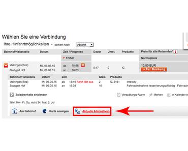 Aktuelle Alternativen: Deutsche Bahn Fahrplan Streik