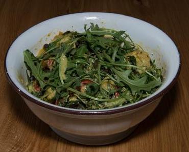 Paprika-Kartoffelsalat mit Rucola (ovo-lacto-vegetarisch)