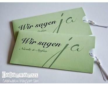 Hochzeitseinladungen mit Stampin Up