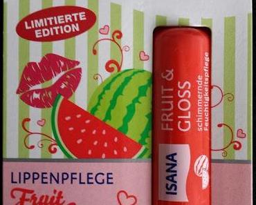 Isana FRUIT&GLOSS WASSERMELONE Lippenpflege