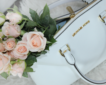 Michael Kors Liebe | Cindy LG Dome Satchel Optic White